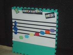 Music Board from Greece with Stave