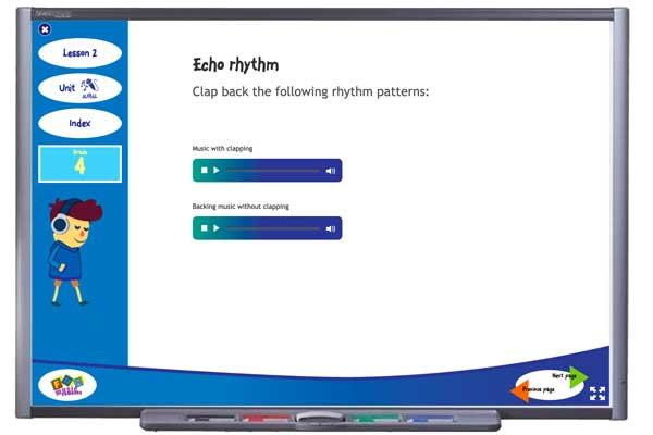 Aural Activity screen from Grade 4